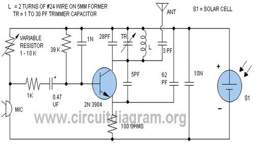 solar fm transmitter circuit diagram rh circuitdiagram org