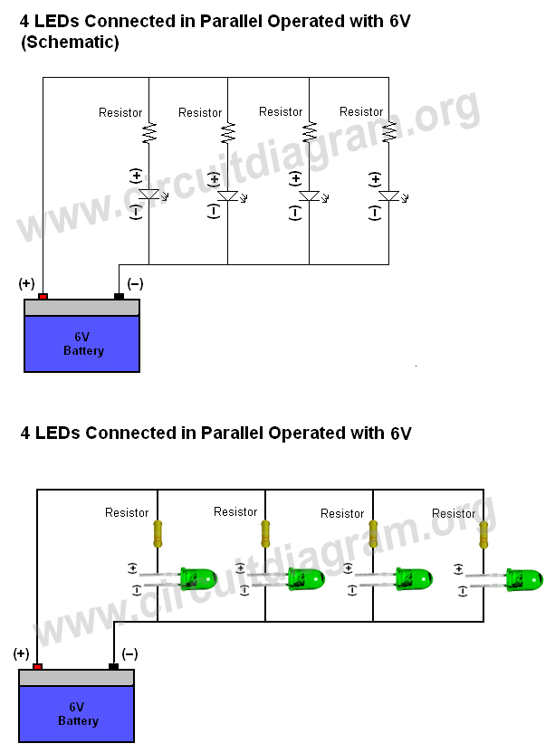 How to ConnectWire LEDs   Circuit    Diagram