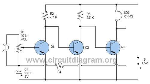 Microphone Amplifier on Transistor Preamp Circuit