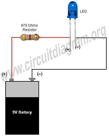 simple basic led circuit circuit diagram LED Battery Monitor Circuit 12 volt led lights circuit diagram